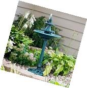 Outdoor Bird Bath Water Fountain 3 Tier Antique Garden Yard