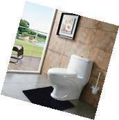 Bathroom Toilet Mat Non Slip Contour Bath Rug Soft Floor