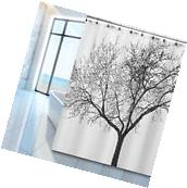 "Bathroom Waterproof Fabric Shower Curtain Tree Roller 72""x72"