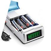 LCD 4-Slot Battery Charger For AA AAA Ni-MH / Ni-Cd