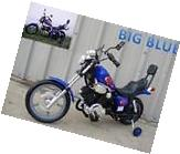 """Battery Power Blue Harley Style Ride on Motorcycle 15"""""""