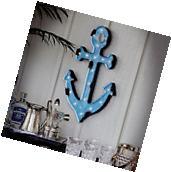 Beach House Decor Nautical Metal Wall Art Vintage Marquee