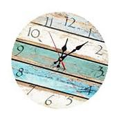 Beach Theme Clock Old Vintage Look Wall Hanging Home Decor