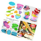 Beach Toys Set Sand Toys for Kids 9 Piece Shovels Bucket