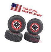 4Pcs Bead-Lock 1:10 Short Course Truck Tires&Wheel Rim For