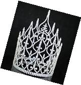 BEAUTY QUEEN CROWN TIARA CLEAR AUSTRIAN RHINESTONE CRYSTAL