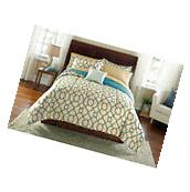 Bed-in-a-Bag Fretwork Complete King Size Comforter Bedding