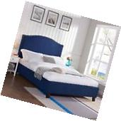 Bed Frames for Queen Size Bed with Storage White Captain