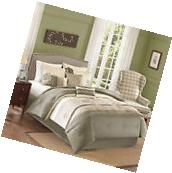 7 Piece Bedding Comforter Set Beige Full/Queen Size