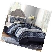 7-Piece Bedding Comforter Set Indigo Paisley Better Homes