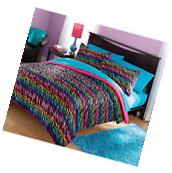 Bedding Comforter Set Your Zone Mink Rainbow Zebra Kids