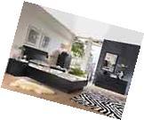 5pc Bedroom Set Queen Platform Bed Headboard Nightstand