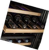 Beverage Cooler With Glass Door Refrigerator  Dual Zone