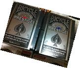 Bicycle Prestige Poker Playing Cards 2 Case Decks Red & Blue