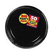 Amscan Big Party Pack 50 Count Plastic Dessert Plates 7-Inch