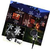 Big on SALE! Snowflake Landscape Laser Projector LED