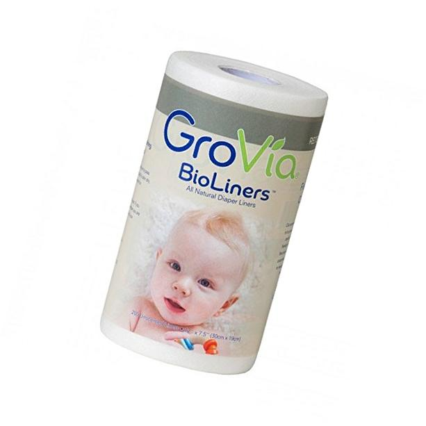GroVia BioLiners Unscented Diaper Liners  200 Count