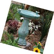 Outdoor Bird Bath Birdbath Ceramic Patio Garden Decor Yard