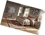 Ashley Birlanny Queen 6 Piece Bed Set w/Faux Crystal Inserts
