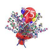 75th Birthday  Party Supplies BALLOON BLAST STAR CENTERPIECE