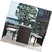 Outdoor Bistro Sets 3 Piece Patio Furniture Sets Wicker