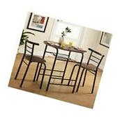 Bistro Table Set Indoor Small Kitchen Dining for 2 Chairs