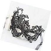 Black Costume Lace Eye Mask Venetian Masquerade Ball Party