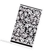 BLACK DAMASK PLASTIC TABLE COVER ~ Wedding Birthday Party