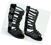 """Black Gladiator Sandals Shoes for 18"""" American Girl Doll"""
