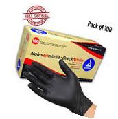 Black Gloves Nitrile Powder Free Latex Rubber Heavy Duty