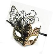 Black/Gold Small Dream Butterfly Mardi Gras Halloween Ball