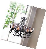 BLACK hanging chandelier CANDELABRA Candle holder Wedding