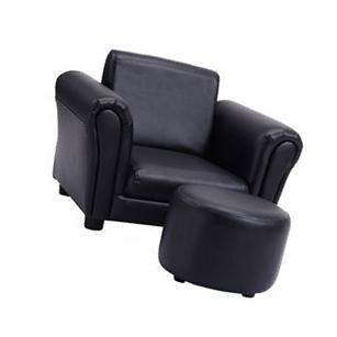 Black Kids Sofa Armrest Chair Couch Children Toddler