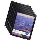 "Set Of 6 8""x10"" Black Linear Wall Poster Picture Photo"