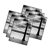"Black Picture Frames 4"" x 6"" Set of 6 Home Decor Mainstays"