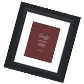 "Craig Frames 12x14 2"" Black Picture Frame, White Mat with"