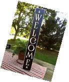"""24"""" Black Primitive Wood Sign """"Welcome"""" Rustic Country Home"""