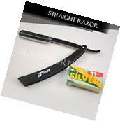 Black Straight Barber Edge Razor Folding Shaving Knife 11