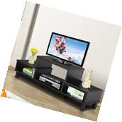 Black Modern 60 inch TV Stand and Media Cabinet Furniture