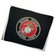 "50""x60"" Black USMC Marines Marine Corps Seal Polar Fleece"