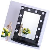 Chende Black Vanity Lighted Hollywood Makeup Mirror with