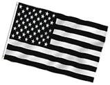 Anley Fly Breeze 3x5 Foot Black and White American Flag