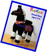 NEW ORIGINAL PONYCYCLE SMALL BLACK WHITE Rock Walk Ride On