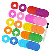 Blulu 50 Pieces Colored Blank Closet Size Dividers Round