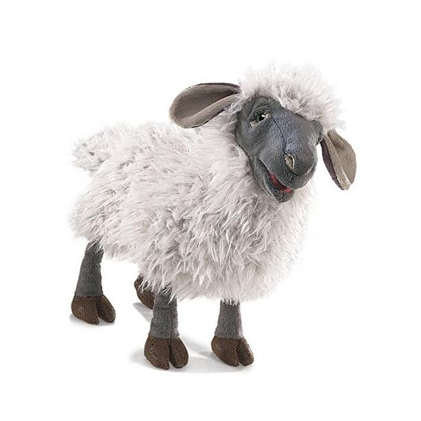 Folkmanis Bleating Sheep Hand Puppet Plush New
