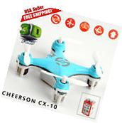 Blue Cheerson CX-10 2.4Ghz 4CH 6-Axis GYRO LED Mini Nano RC
