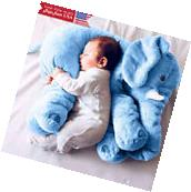 Blue Elephant Pillow XL Cushion Stuffed Doll Toy Baby Kids