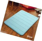 "Blue 32"" Non-Slip Back Rug Soft Bathroom Carpet Memory Foam"