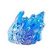 Blue Titanium  Quartz Crystal Cluster Drusy Geode Flame Aura