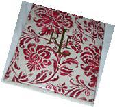 "Ralph Lauren Bluff Point Floral RED 70"" Round Tablecloth--"